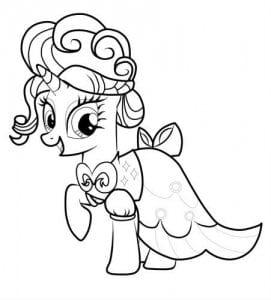 раскраску маленькие пони скачать