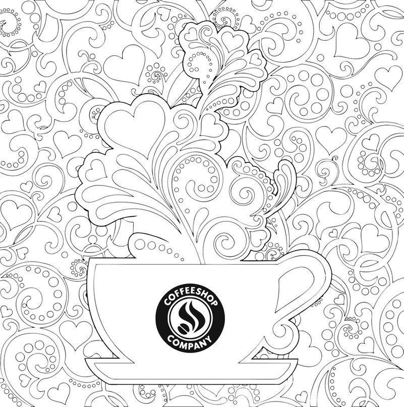 распечатать бесплатно чая картинка раскраска чашка для