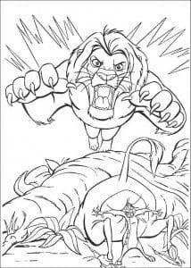 распечатать бесплатно раскраска король лев