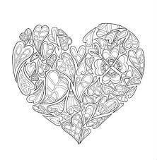 распечатать бесплатно раскраски на валентин день