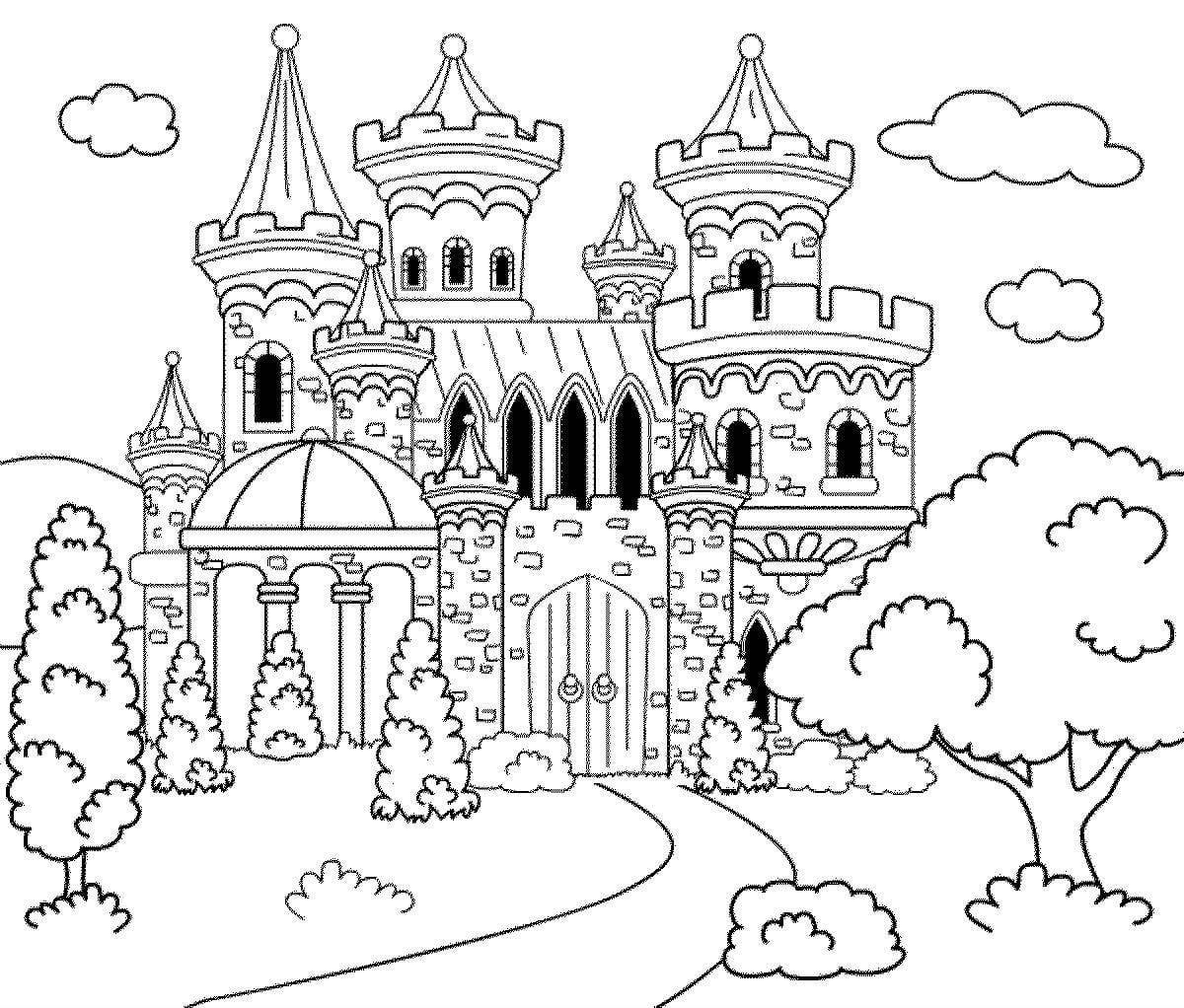 Раскраски замков