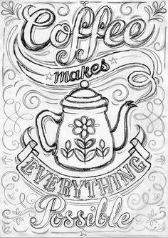 распечатать чашка для чая картинка раскраска