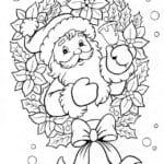 распечатать детей раскраска новый год для