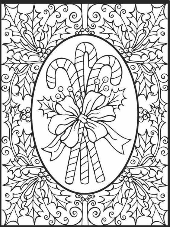 распечатать для девочек про новый год раскраски - Рисовака