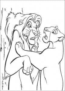 распечатать из диснея король лев раскраски животные