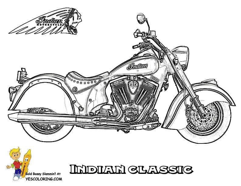 распечатать раскраска мотоцикл | Рисовака