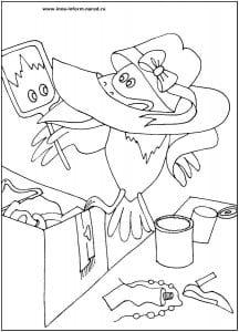 распечатать раскраска попугай кеша