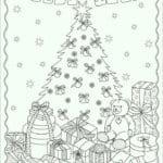распечатать раскраски для девочек новый год