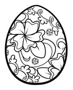 распечатать раскраски пасха яйца скачать