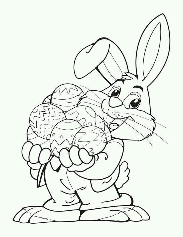Пасхальные кролики раскраски
