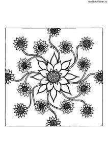 рисуем для отдыха и релаксации мандалы