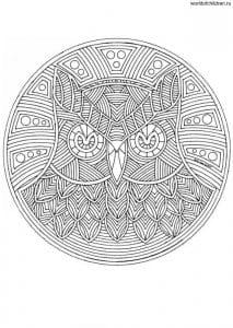 рисунок в круге мандала