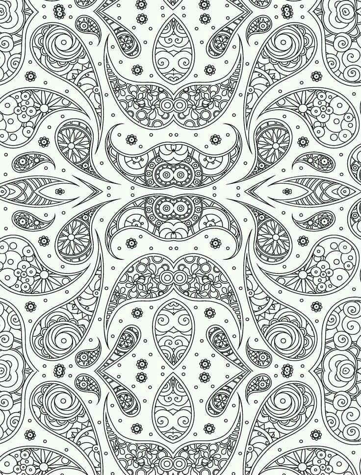 узоры и орнаменты распечатать раскраска - Рисовака
