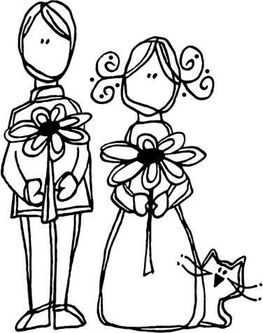скачать бесплатно раскраска жених и невеста свадьба
