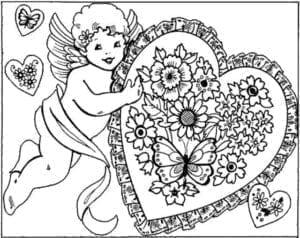скачать раскраски на день святого валентина