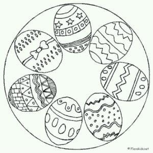скачать раскраски пасха яйца