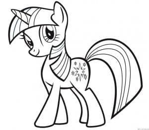 скачать раскраску маленькие пони