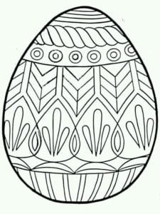 скачать распечатать раскраски пасха яйца