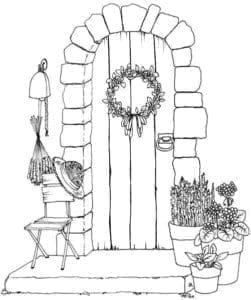 скачать сказочная дверь раскраска