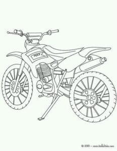 смотреть раскраска мотоцикл