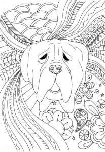 собака для детей 2 3 лет раскраска