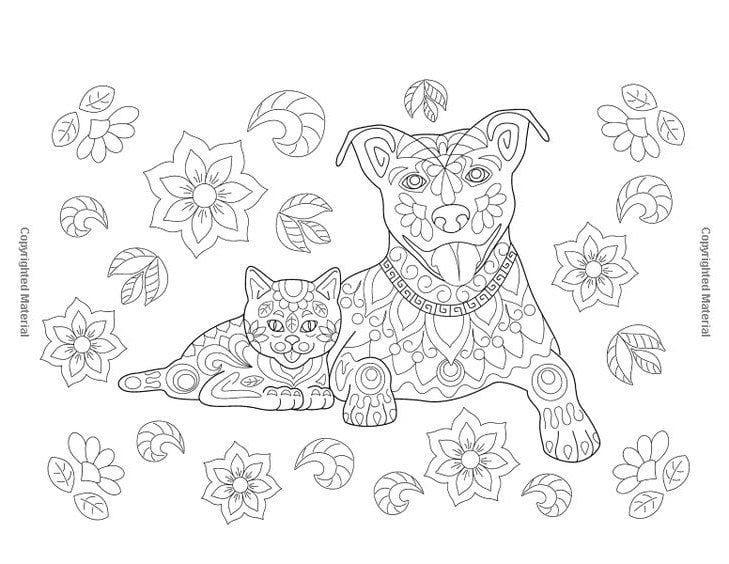 sobaka-dlja-detej-raspechatat-raskraska собака для детей распечатать раскраска