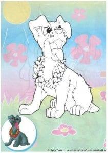 собака друг человека раскраска