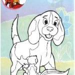 собака раскраска