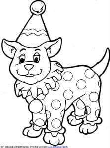 собака распечатать раскраска