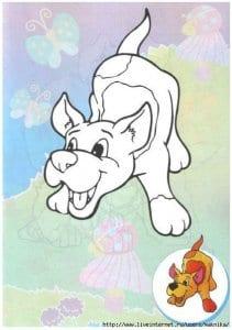 собака рисунок для детей раскраска