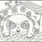собаки для детей раскраска картинка