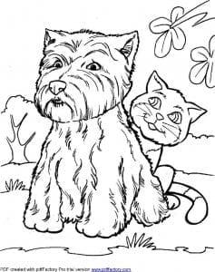 собаки для раскраски изображение