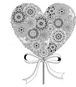 святого валентина распечатать бесплатно раскраски на день