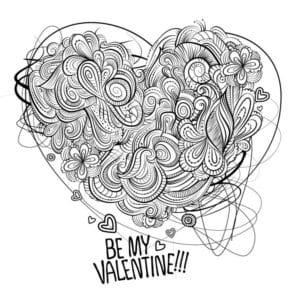 валентинов день бесплатно раскраски