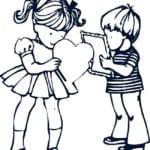 валентинов день скачать бесплатно раскраски