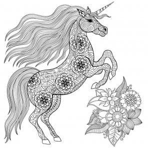 vzroslyh-edinorog-raskraska-300x297 Лошади и единороги