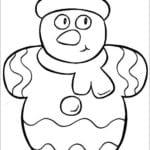 зима новый год раскраска А4