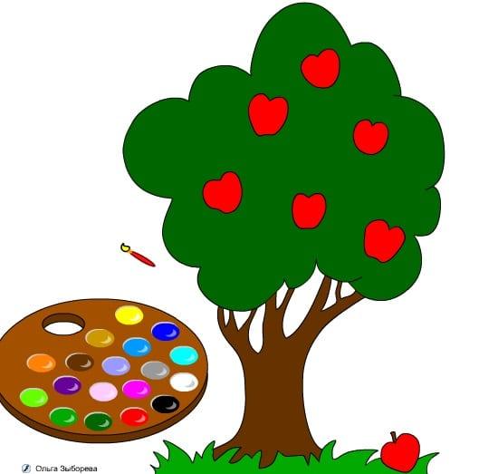 -с-яблоками-1 Раскраски онлайн
