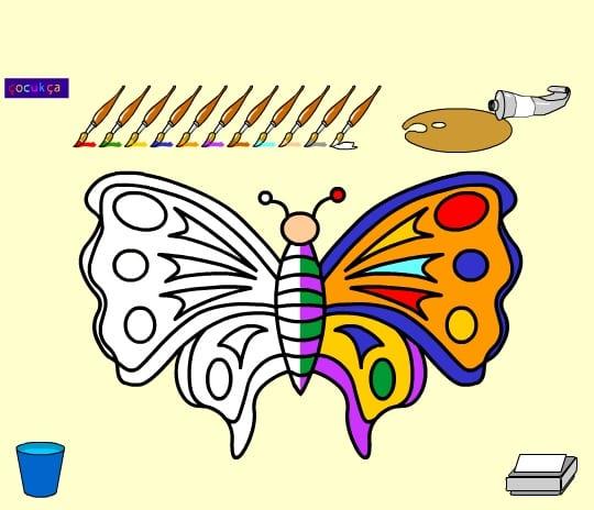 -бабочка-1 Раскраски онлайн