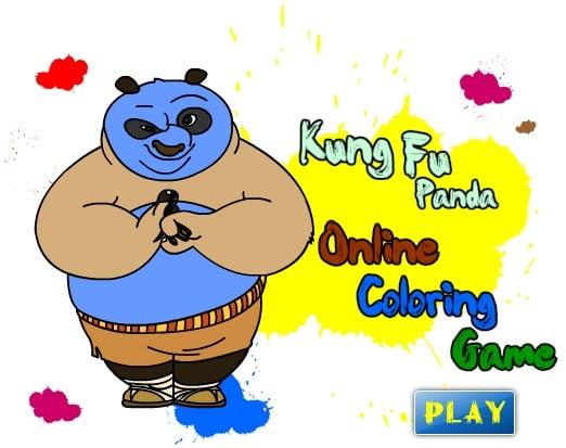 -фу-панда-1 Раскраски онлайн