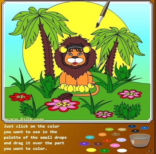 -в-джунглях-1 Раскраски онлайн