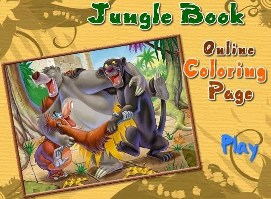 -Книга-Джунглей-1 Раскраски онлайн