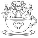 3 4 лет кошка раскраски детей
