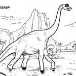 Брахиозавр скачать раскраска