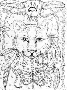 А4 детская раскраска кошка