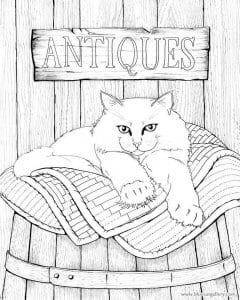 А4 домашние кошки раскраски