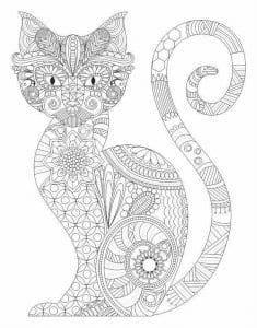 А4 картинка кошки раскраска распечатать