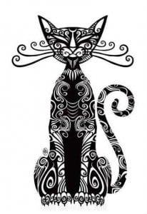А4 картинки антистресс раскраски кошки