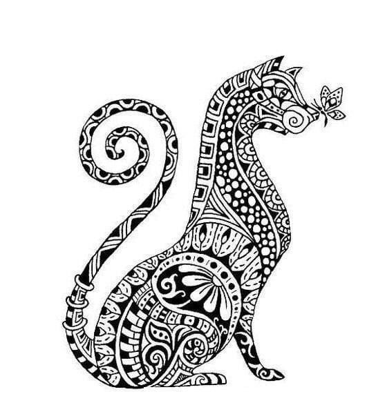 a4-kartinki-raskraski-koshek-i-kotjat А4 картинки раскраски кошек