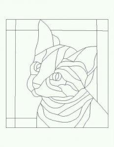 А4 кошка раскраска для детей